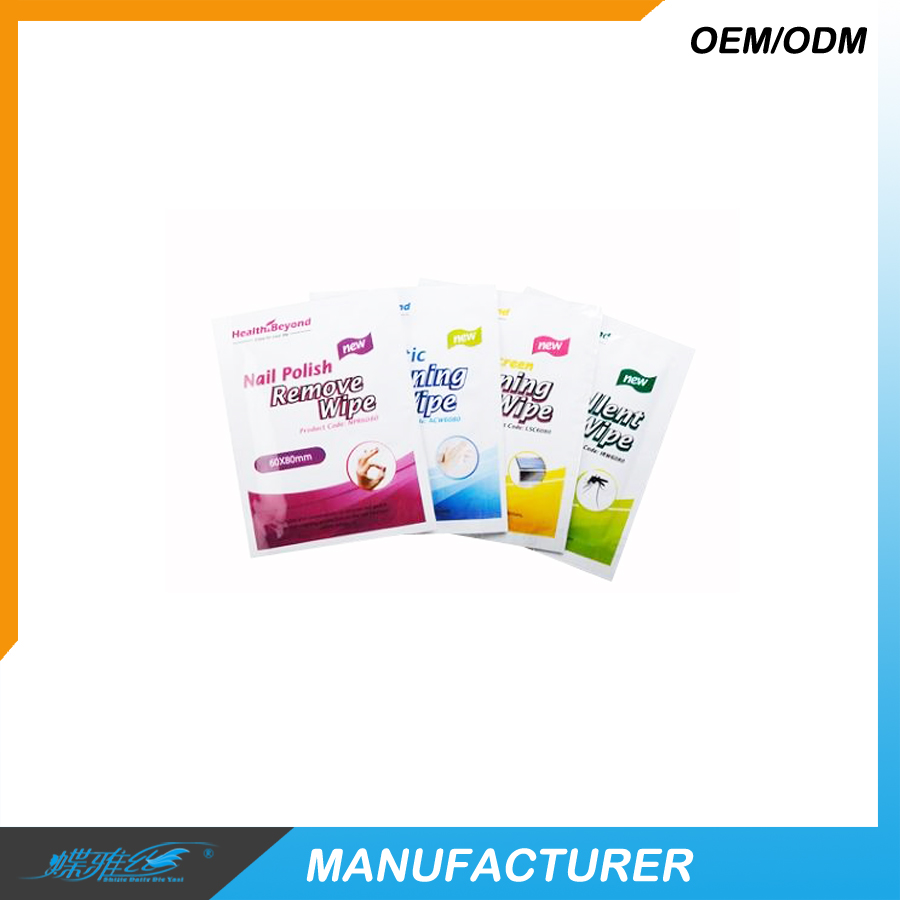 Individual pack nail remover wipes